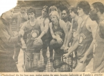 Newspaper clipping before the Finals